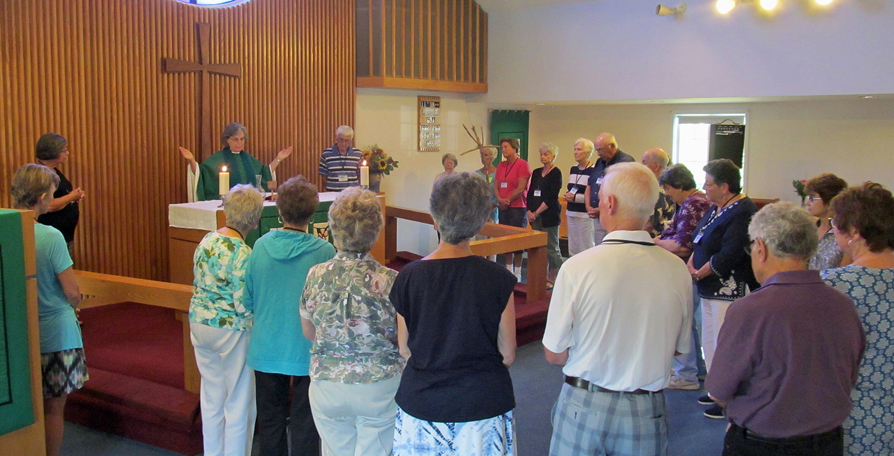 Community gathered for Eucharist